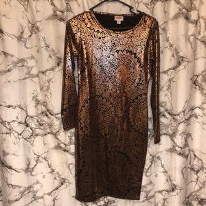 Gold Mandala LuLaRoe dress NEW unicorn